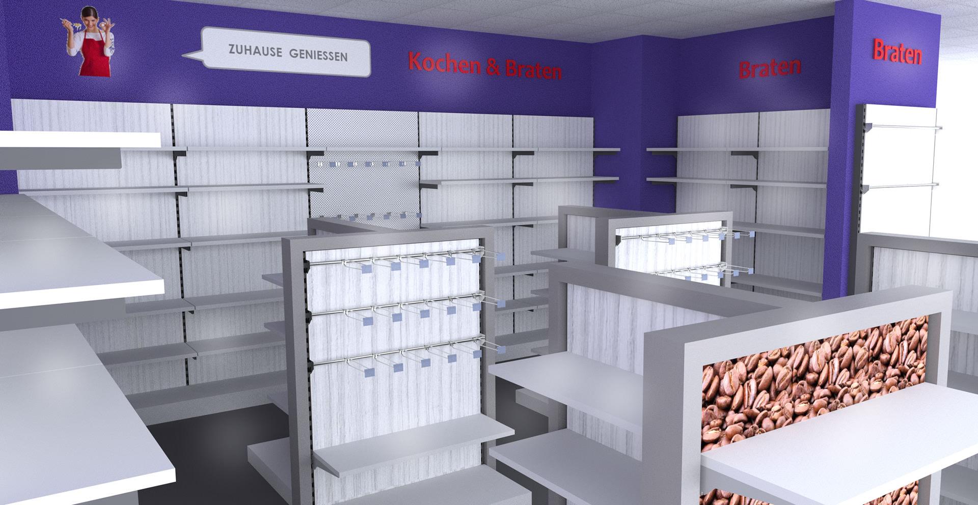 Visualisierung der Idee | Innenarchitektur Nitschke-Hein Storedesign